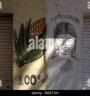 Mérida 132, Cuauhtémoc, Ciudad de México, Distrito Federal, Mexico. 23rd Jan, 2015. A corn stalk - Stock Image