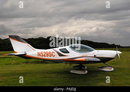 a Czech Aircraft Works SportCruiser parked on the grass - Stock Image
