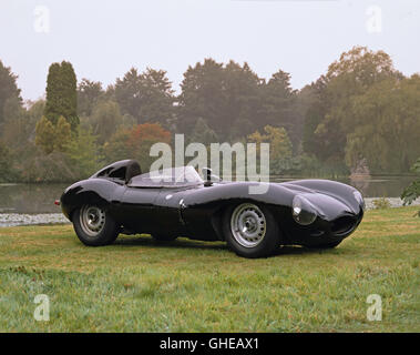 1958 Jaguar D Type 3 8 litre sports racing 2 seater Country of origin United Kingdom - Stock Image