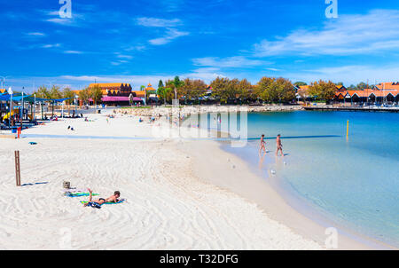 Sorrento Quay Hillarys Boat Harbour beach. Perth, Western Australia - Stock Image