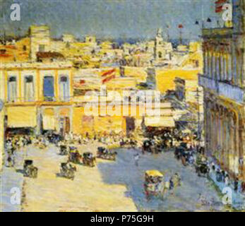 Work by Childe Hassam . before 1935 136 Hassam - havana - Stock Image