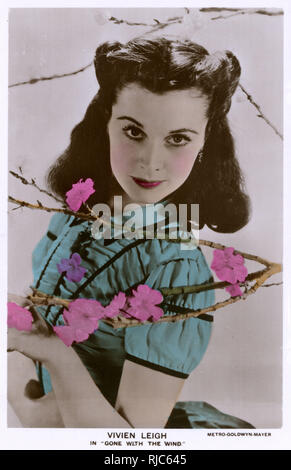 English Stage and Film Actress Vivien Leigh (1913-1967) in 'Gone with the Wind' (US 1939). - Stock Image