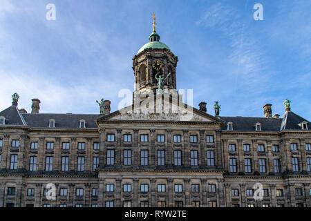 Royal Palace Amsterdam, The Netherlands, February 2019 - Stock Image
