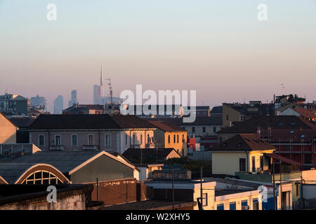 Italy, Lombardy, Milan, Bovisa district, cityscape - Stock Image