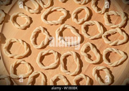 Italy Sardinia Lorighittas Pasta with durum wheat flour - Stock Image