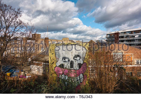 Artist warehouse buildings on Fish Island and Hackney Wick: London. - Stock Image