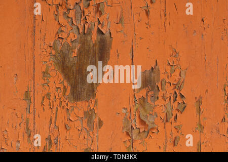 Orange Wooden Background, Wood Texture with paint - Stock Image