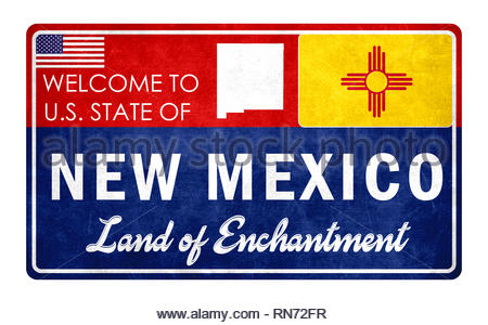 Welcome to New Mexico - Stock Image
