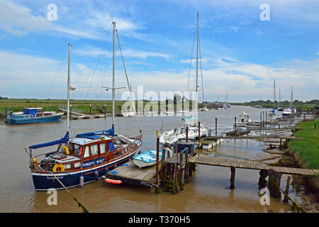 Estuary between Walberswick and Southwold in Suffolk, UK. This is on the Walderswick side. - Stock Image