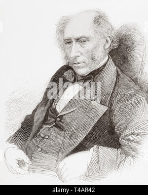 John Phillips, 1800 –1874.  English geologist.  From The Illustrated London News, published 1865. - Stock Image