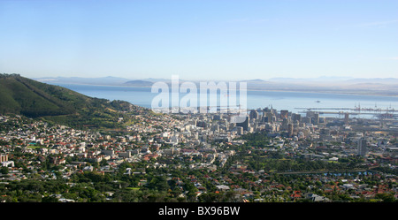 Cape Town from the Base of Table Mountain, Western Cape Province, South Africa. - Stock Image
