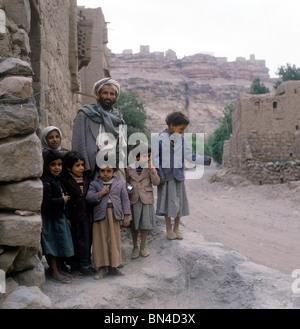 Local family Wadi Dahr Yemen - Stock Image