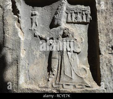 6155. Hamat Gader, Greek inscription - Stock Image