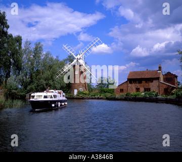 Hunsett Mill Norfolk Broads Norfolk UK - Stock Image