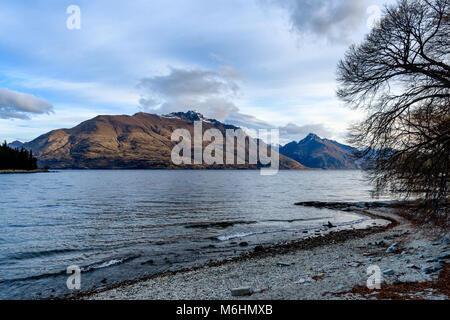 Lake Wakatipu View - Stock Image