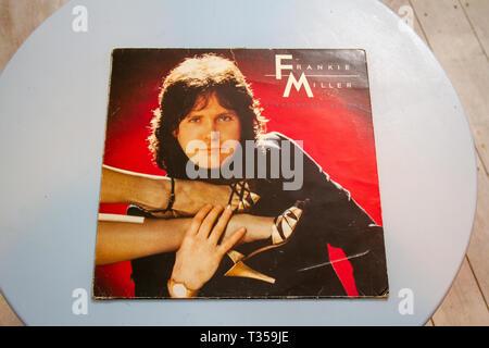 Frankie Miller's 1982 album Standing on the Edge - Stock Image