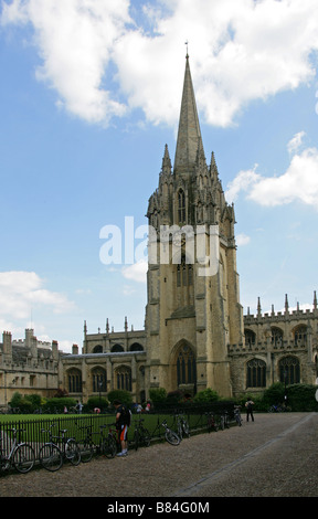 Tower and Spire of Saint Mary's Church, Oxford, Oxfordshire, UK - Stock Image