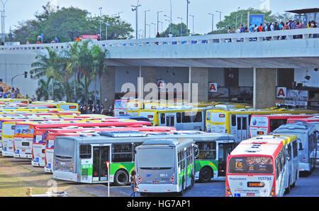 bus station Brasilia Brazil - Stock Image