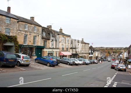 Burford High Street in The Cotswolds - Stock Image