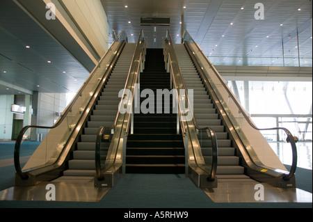 Escalators at Convention Center Boston Massachusetts - Stock Image