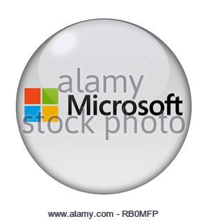 Microsoft company logo - Stock Image