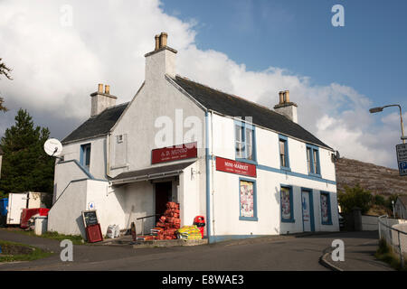Village shop in Tarbert on the Isle of Harris in the Outer Hebrides - Stock Image