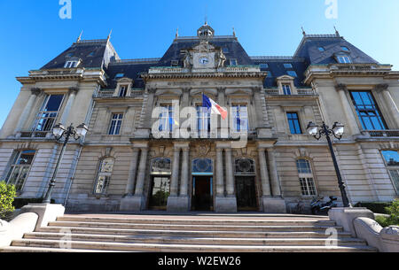 The town hall of Saint-Maur-des-Fosses city . it is a commune in the southeastern suburbs of Paris, France. - Stock Image