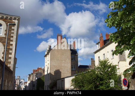 France, Nantes, department 44, rue Dufour, old buildings. - Stock Image