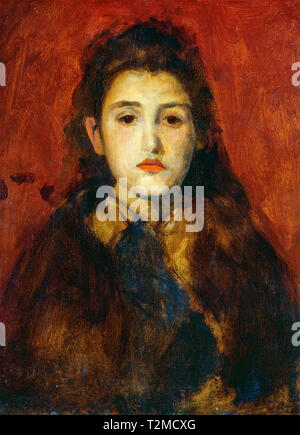 James McNeill Whistler, Alice Butt, portrait, c. 1895 - Stock Image