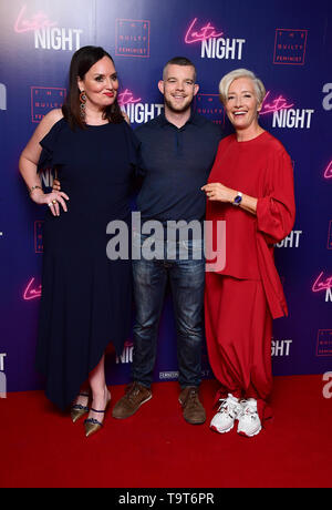 Deborah Frances-White, Russel Tovey, Emma Thompson attending the Late Night event in association with The Guilty Feminist at Picturehouse Central, London. - Stock Image