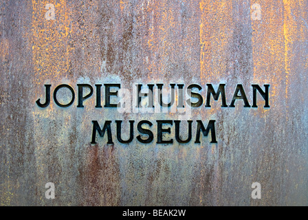 Facade of the Jopie Huisman Museum in Workum, Fryslan, The Netherlands - Stock Image