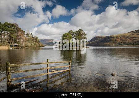 Springtime weather, Derwentwater, Lake District, Cumbria, UK - Stock Image