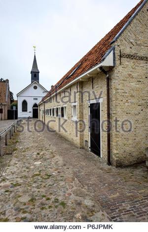 Hervormde Kerk (Reformed Church) Bourtange - Stock Image