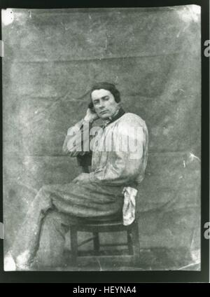 Louis Dodier, ca 1848, by Louis-Adolph Humbert de Molard - Stock Image