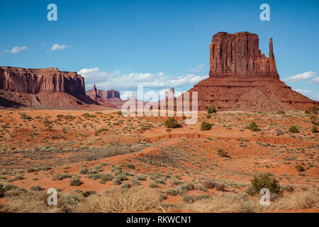 A view across Monument Valley in Arizona. - Stock Image