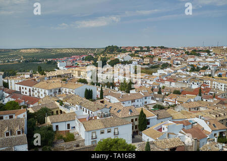 Baeza Cityscape bird´s-eye view. Jaén province, Andalusia, Spain. - Stock Image