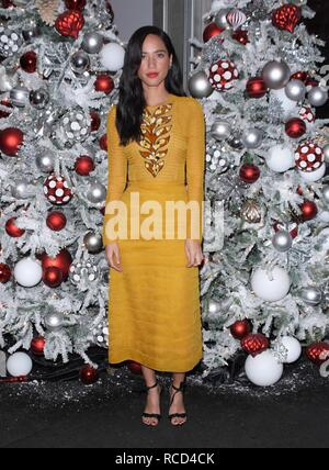 Winter Wonderland 2018 at Botanical Gardens in the Bronx NYC  Featuring: Kelsey Chow Where: NYC, New York, United States When: 14 Dec 2018 Credit: Patricia Schlein/WENN.com - Stock Image