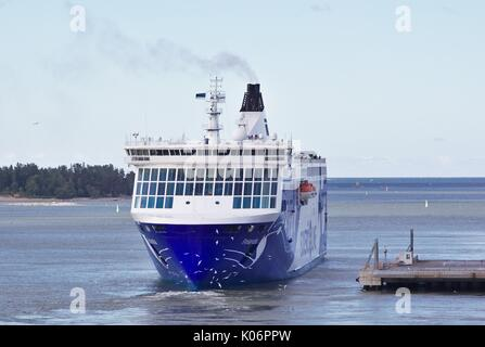 MS Finlandia, Eckerö Line, mooring in harbor - Stock Image