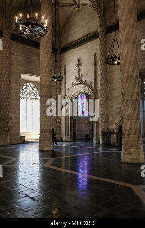 La Lonja, former silk and commodities exchange building with a gothic style, and now a World Heritage Site, North Ciutat Vella, Valencia, Spain. - Stock Image