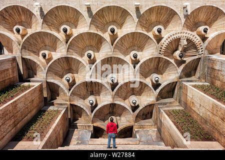 Cascade Complex in Yerevan, Armenia, taken in April 2019rn' taken in hdr - Stock Image