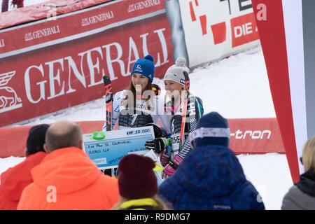 Courchevel, France. 22nd Dec 2018.  Frida Hansdotter 3rd in Courchevel France Ladies Slalom Audi FIS Alpine Ski World Cup 2019- Credit: Fabrizio Malisan/Alamy Live News - Stock Image