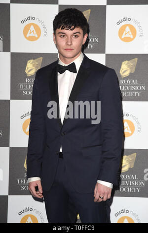 LONDON, UK. March 19, 2019: Aedan Duckworth arriving for the Royal Television Society Awards 2019 at the Grosvenor House Hotel, London. Picture: Steve Vas/Featureflash Credit: Paul Smith/Alamy Live News - Stock Image