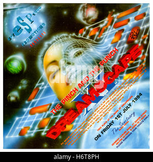 'Dreamscape XI The Pinch and the Punch' 1 July 1994 rave flyer, this was the eleventh large scale rave organised - Stock Image