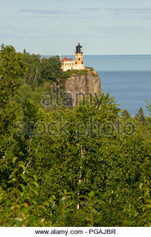 Split Rock Lighthouse, Minnesota - Stock Image