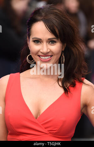 London, UK. 24th Apr, 2019. LONDON, UK. April 24, 2019: Hayley Sparkes arriving for the 'Extremely Wicked, Shockingly Evil And Vile' premiere at the Curzon Mayfair, London. Picture: Steve Vas/Featureflash Credit: Paul Smith/Alamy Live News - Stock Image