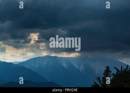 Schneeberg before thunderstorm and hail - Stock Image