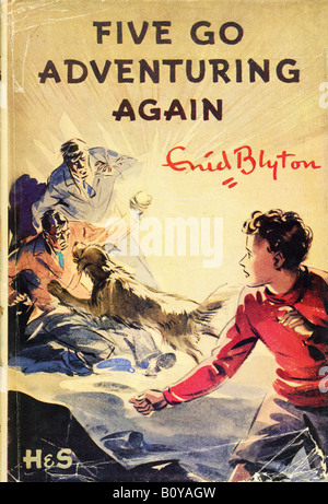 Enid Blyton The Famous Five Books Five Go Adventuring Again FOR EDITORIAL USE ONLY - Stock Image