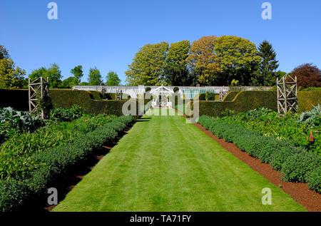 houghton hall walled garden, norfolk, england - Stock Image