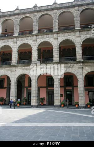 The National Presidential Palace, Zocalo Square, Plaza de la Constitucion, Mexico City, Mexico - Stock Image