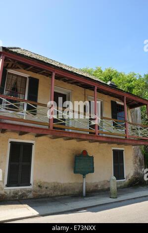 Fernandez-Llambias House, St. Augustine, Florida, USA - Stock Image